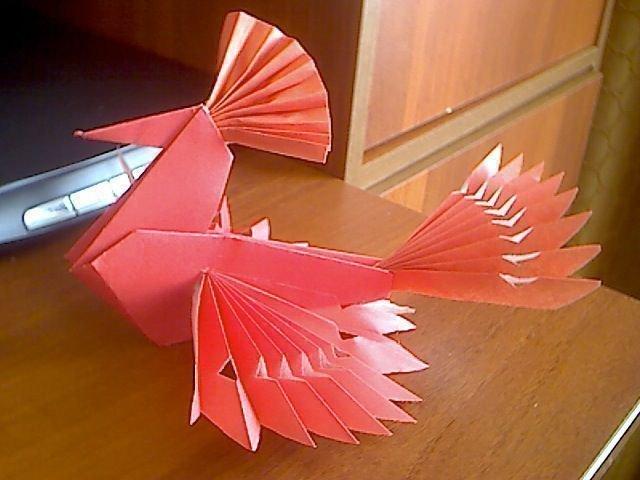Птица счастья оригами из бумаги своими руками