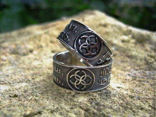 Славянские кольца обереги из серебра и золота, их значение