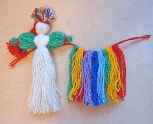 Как сделать куклу своими руками из ниток для детей пошагово