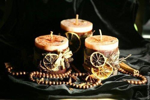 Коричневая свеча