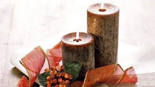 Темно-коричневая свеча
