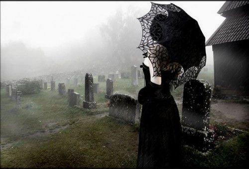 Приворот на кладбищенской земле, с могил