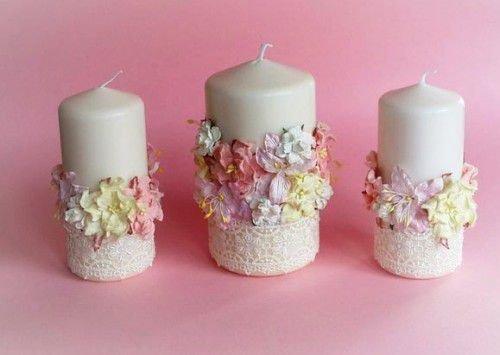 Три белые свечи для совершения обряда