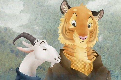 Тигр и коза