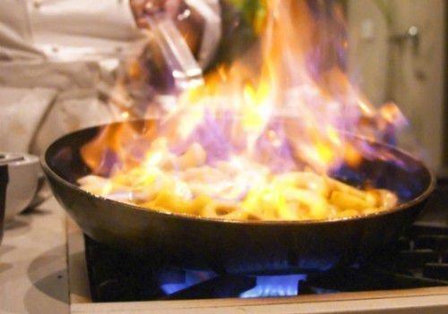 Еда пригорела