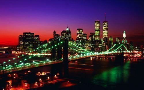 Ночная панорама моста Золотые ворота в Сан-Франциско