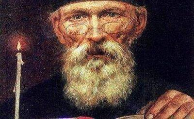 Фрагмент картины Монах Авель