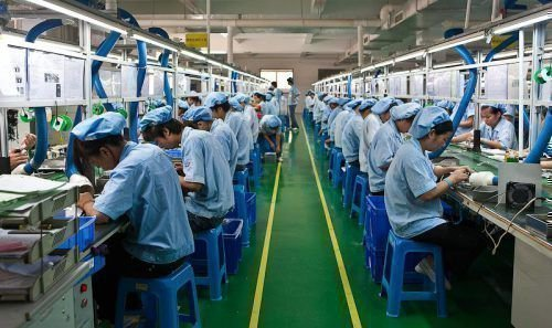 Работа на фабрикев китае