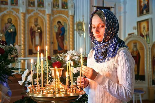 Посещение церкви перед ритуалами