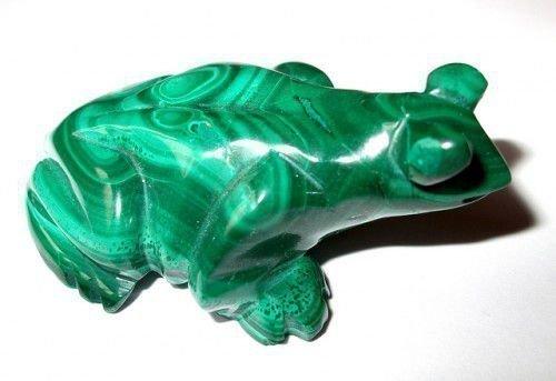 Зеленая малахитовая лягушка
