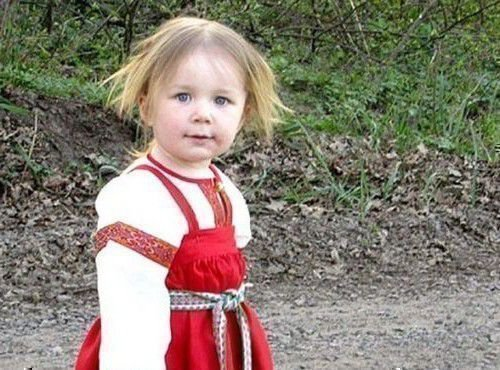 Ладинец девочки начинали носить с трех лет