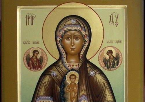 Святой образ пресвятой богородицы в родах помощницы