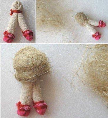 Формируем голову для куколки
