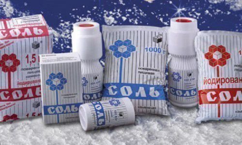 Соль в упаковке