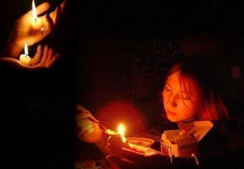 Девушка при свечах