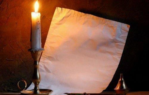 Свеча и бумага