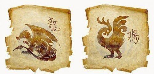 Знаки гороскопа петух и дракон
