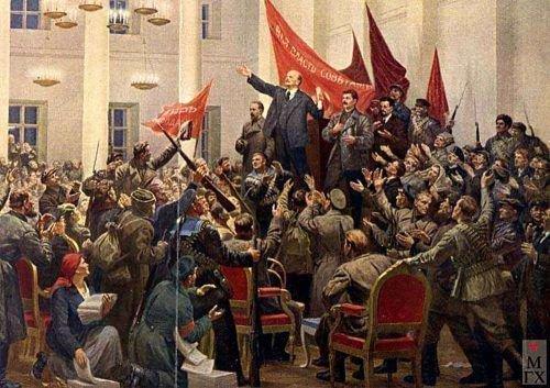Соколов-Скаля. 2-ой съезд Советов - фрагмент картины